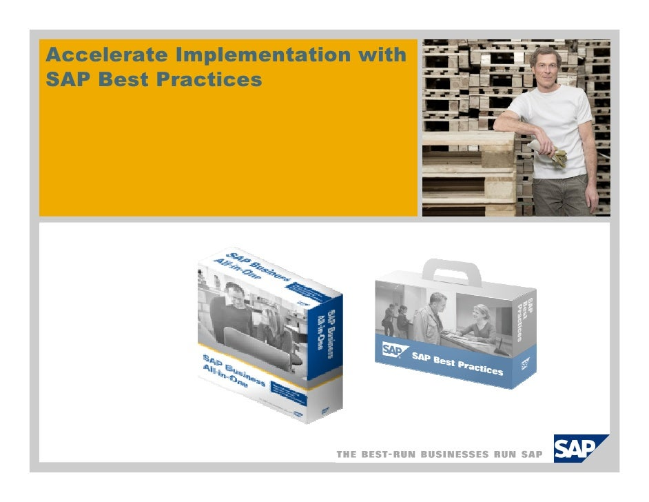 Accelerate Implementation with SAP Best Practices