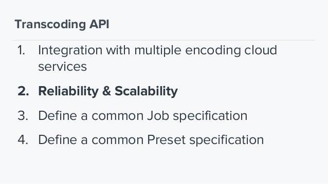"Transcoding API - Job Example { ""provider"": ""elastictranscoder"", ""source"": ""s3://somebucket/folder/my_video.mov"", ""streami..."