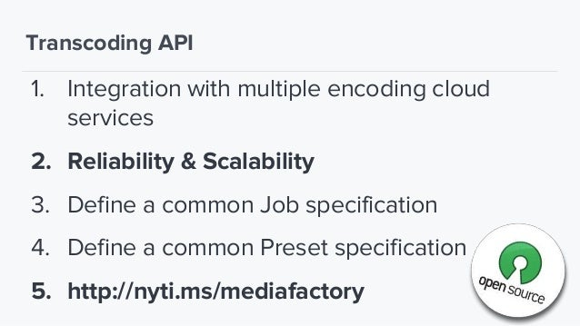 The Distribution API Database Media Factory API Distribution API Acquisition API Media Factory Client Transcoding API Stor...