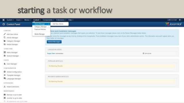 starting a task or workflow