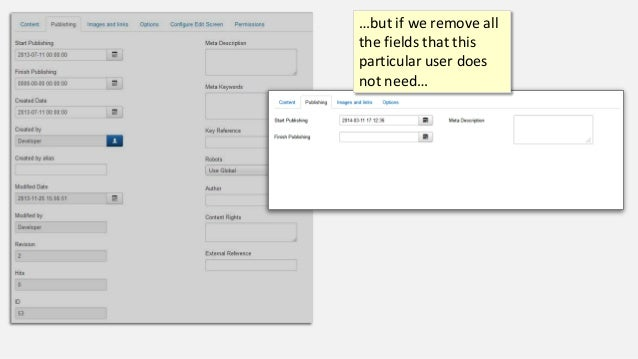 …but if we remove all the fields that this particular user does not need…