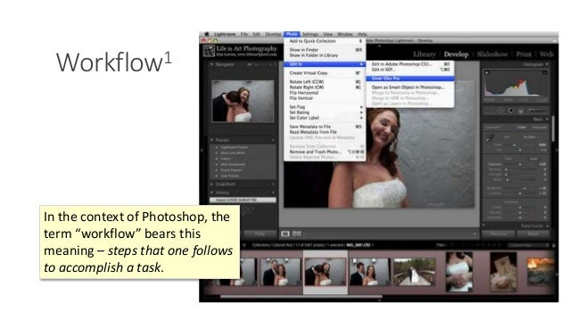 """Workflow1 Photoshop is notorious for complex """"workflows."""" In the context of Photoshop, the term """"workflow"""" bears this mean..."""