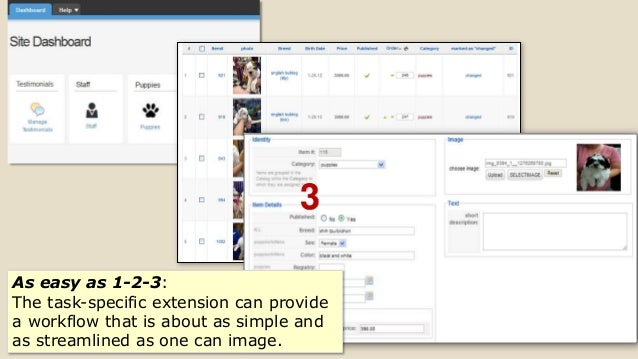 3 As easy as 1-2-3: The task-specific extension can provide a workflow that is about as simple and as streamlined as one c...