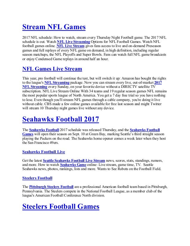 a77169d5 Stream nfl games 2017