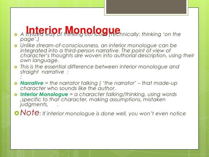 Wonderful ... Interior Monologue; 13.