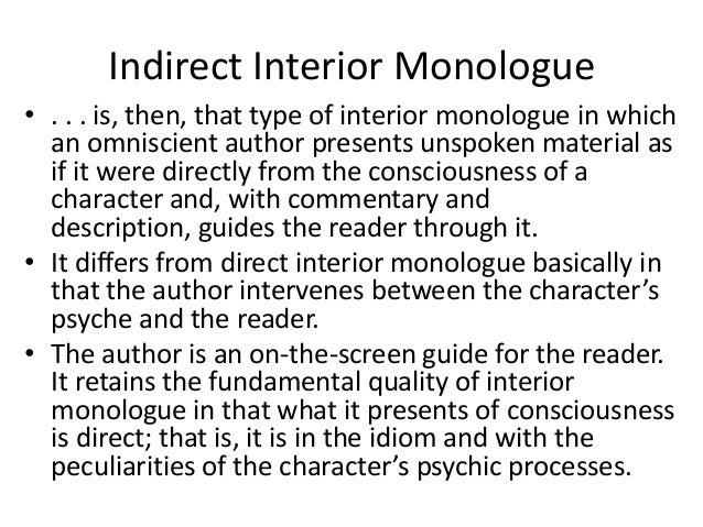 how to write inner monologue in a story