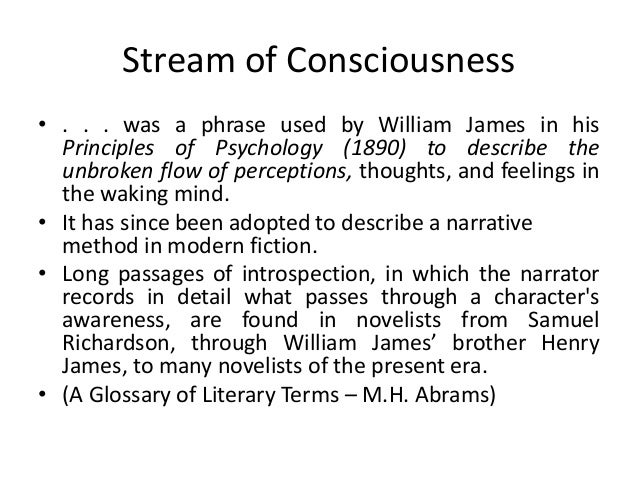 stream of consciousness assignment