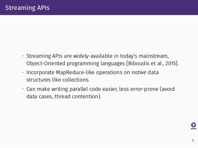 A Tool for Optimizing Java 8 Stream Software via Automated Refactoring Slide 3