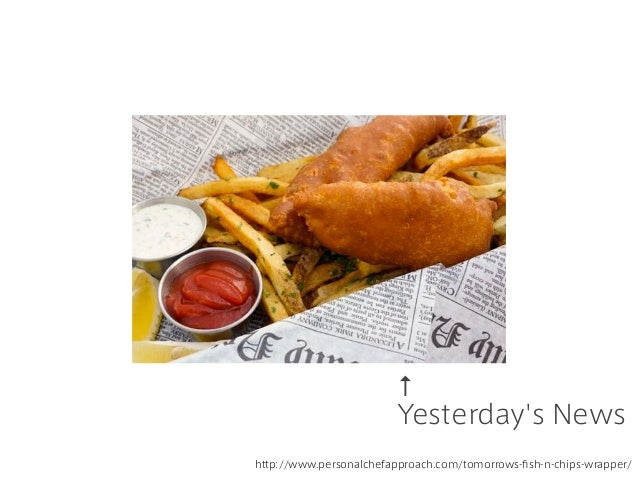 ↑ Yesterday's News http://www.personalchefapproach.com/tomorrows-fish-n-chips-wrapper/