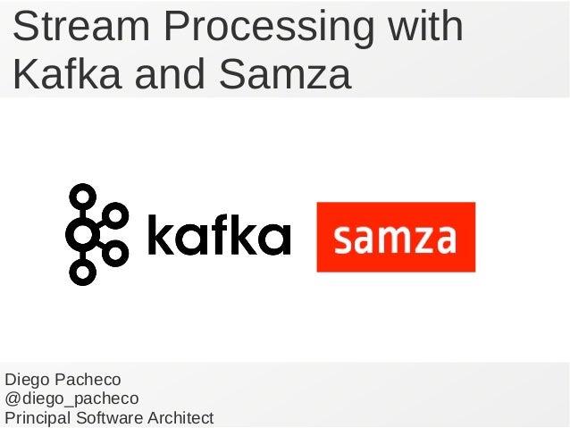 Stream Processing with Kafka and Samza Diego Pacheco @diego_pacheco Principal Software Architect