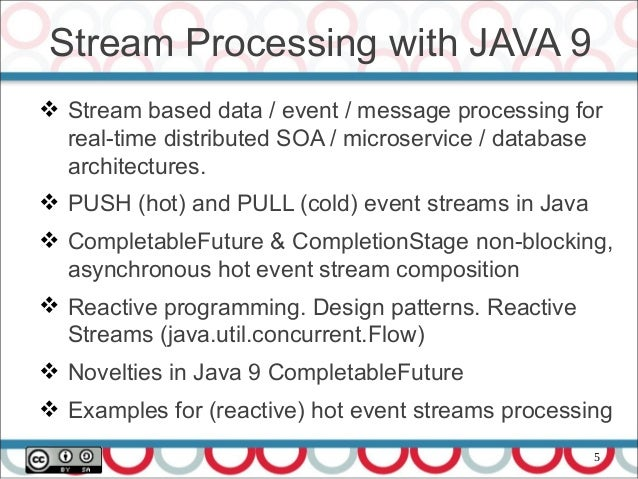 Stream Processing with CompletableFuture and Flow in Java 9