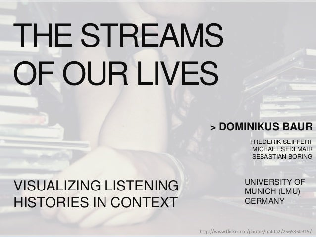 Dominikus and I will present our work 'The Streams of Our Lives: Visualizing Listening Histories in C as a project I did t...