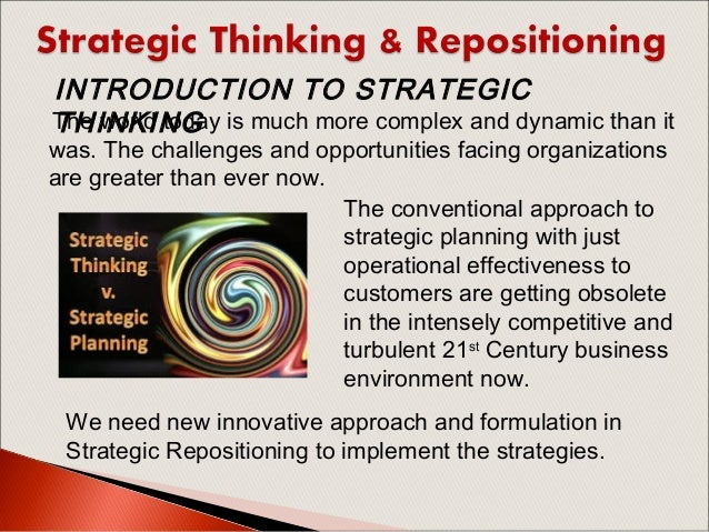 thought and strategy formulation