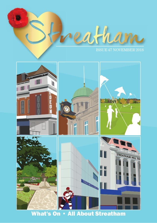 Artwork by Place in Print CELEBRATE STREATHAM ODEON CINEMA Leisure Centre with Hockey Player CELEBRATE STREATHAM Artwork b...