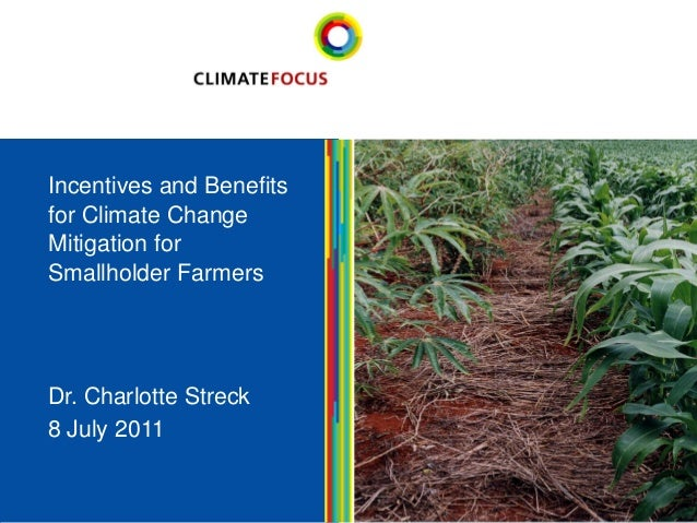 1  Dr. Charlotte Streck  8 July 2011  1Incentives and Benefits for Climate Change Mitigation for Smallholder Farmers