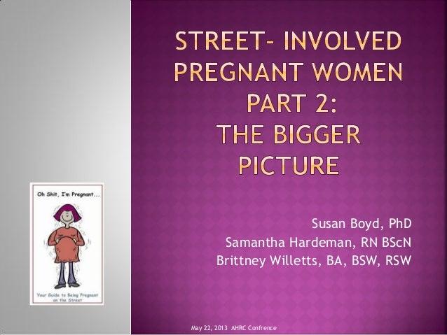 Susan Boyd, PhDSamantha Hardeman, RN BScNBrittney Willetts, BA, BSW, RSWMay 22, 2013 AHRC Confrence