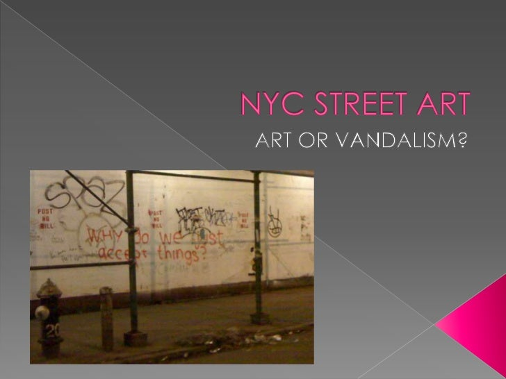    Graffiti's purpose is to tag as many spots as possible to bring fame to the    tagging artist. Unlike street art, it's...
