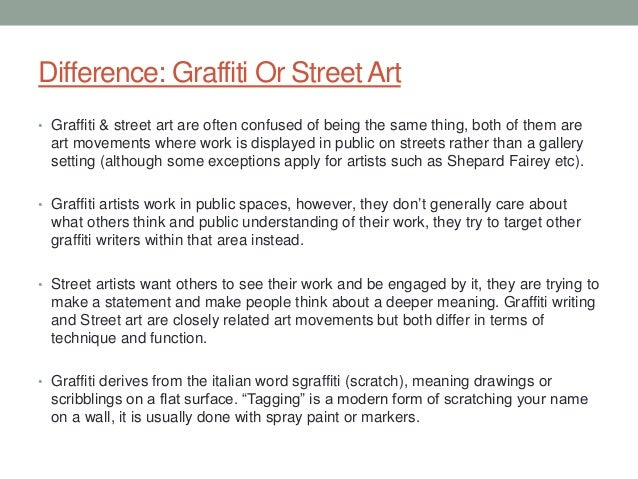 street art essay 14 difference graffiti