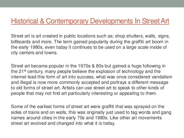street art essay 4 historical contemporary developments in streetart