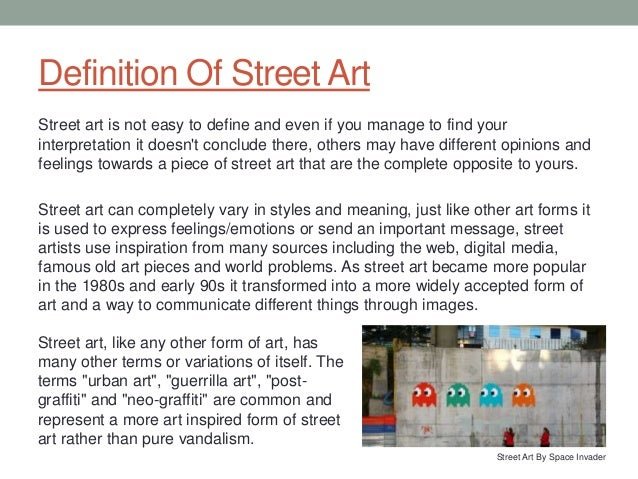street art essay definition of street art