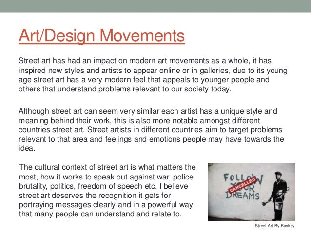 essay street art Street art and graffiti: resources for online study home current issue past issues publish subscribe street art's immersion into the mainstream is not unique for additionally, an impressive collection of research, essays, and interviews with graffiti artists, street artists, and.