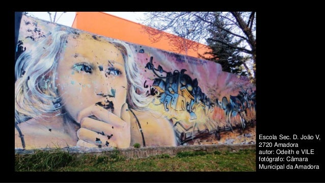 Escola Sec. D. João V, 2720 Amadora autor: Odeith e VILE fotógrafo: Câmara Municipal da Amadora