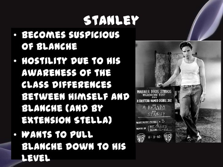 a streetcar named desire relationship between blanche and stanley