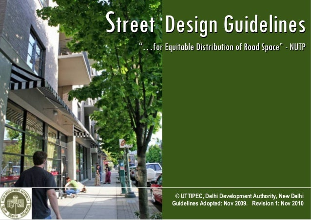 Uttipec street design guidelines for Home decorating guidelines