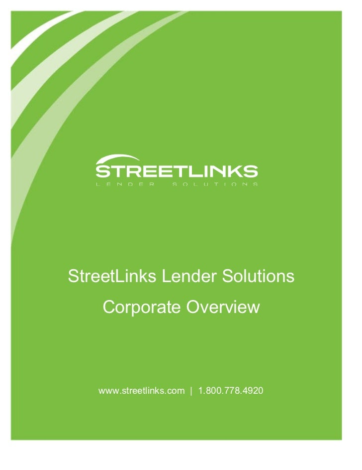 Street Links Corporate Overview 0711