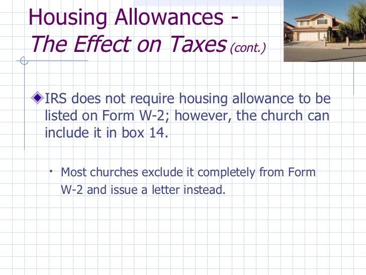 Street smart finances for covenant pastors 2012 housing allowances spiritdancerdesigns Images