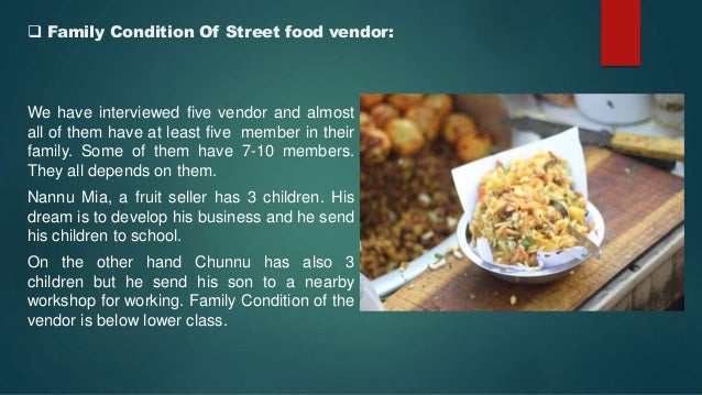 Street food vendor 9 family condition of street food forumfinder Images