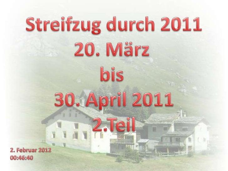 20. März 2011Balzers FLSpaziergang