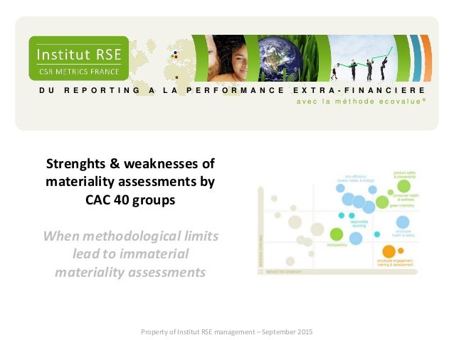 Strenghs And Weaknesses Of CAC 40 Materiality Assessments