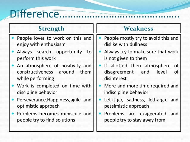 weakness mind and strength Start studying psychological approaches strengths and weaknesses learn vocabulary, terms, and more with flashcards, games, and other study tools.