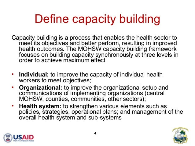 Comprehensive capacity building in a post conflict country for Capacity building plan template