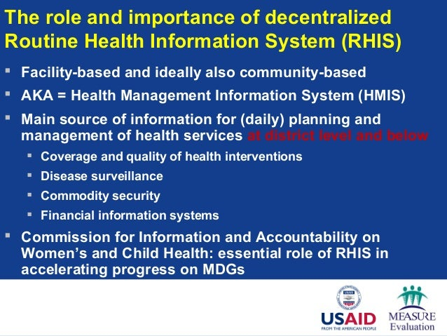Strengthening Routine Facility-based Health Information Systems in De…