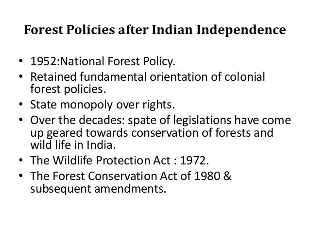indian national forest policy