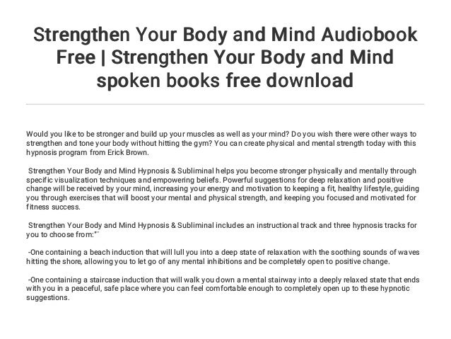 Strengthen Your Body and Mind (Hypnosis & Subliminal)