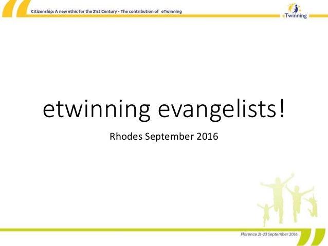 etwinning evangelists! Rhodes September 2016