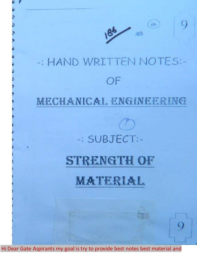 Gate Study Material For Mechanical Pdf