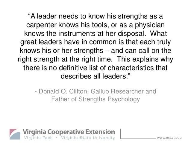 Strengths-Based Leadership for VALOR