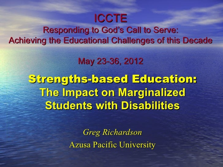 ICCTE        Responding to God's Call to Serve:Achieving the Educational Challenges of this Decade                 May 23-...