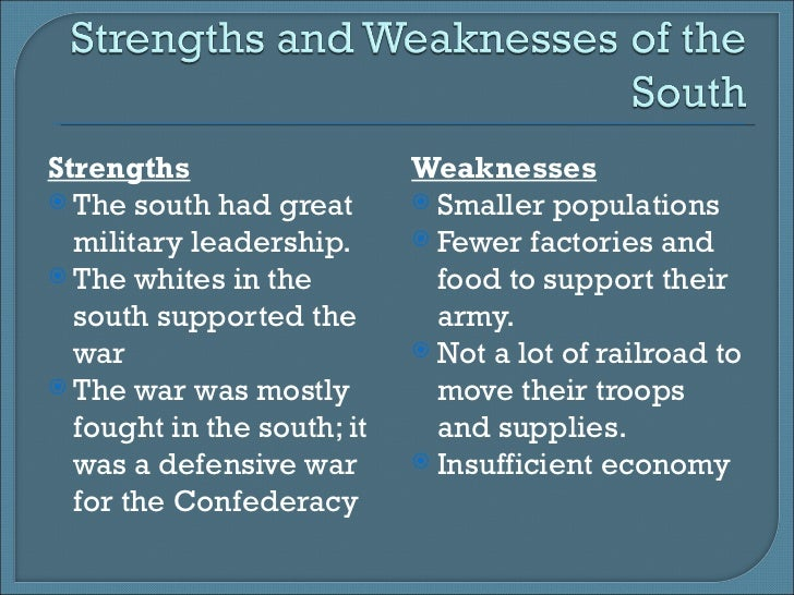 advantages just for the particular north for that civil war