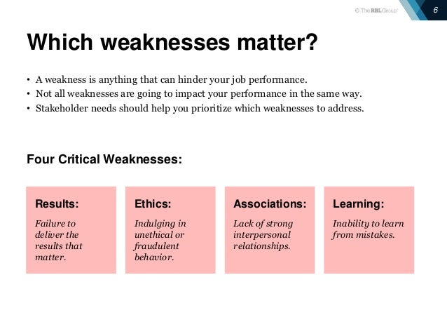 strengths and weaknesses  making the most of feedback