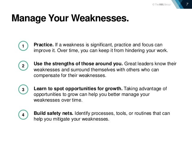 Strengths and Weaknesses: Making the Most of Feedback