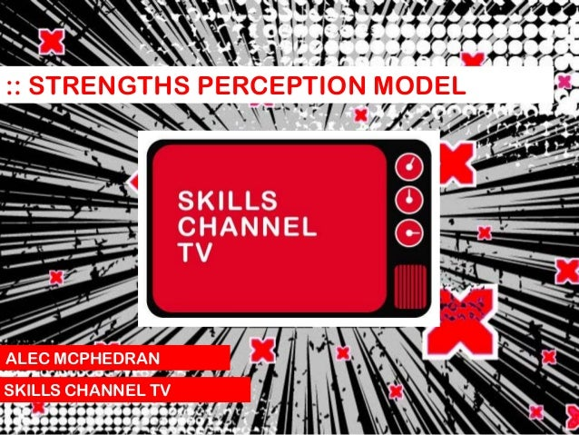 :: STRENGTHS PERCEPTION MODEL  ALEC MCPHEDRAN SKILLS CHANNEL TV