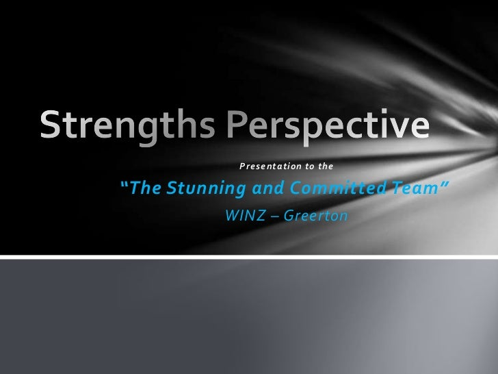 """Presentation to the""""The Stunning and Committed Team""""          WINZ – Greerton"""