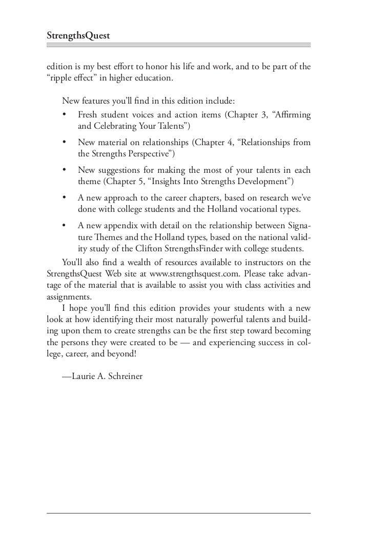 strengths quest book  laurie a schreiner 6