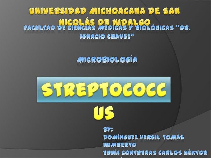 """Universidad Michoacana de San Nicolás de Hidalgo<br />Facultad De Ciencias Médicas y Biológicas """"Dr. Ignacio Chávez""""<br />..."""