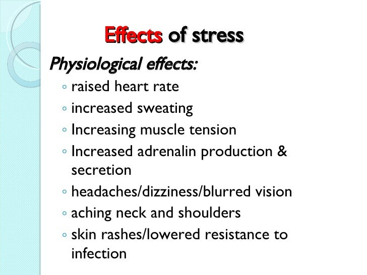 Effect of stress on different personality pulse rates